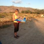 Kite give away in Onaville Haiti