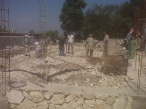 Church rebuilding in Haiti 2010