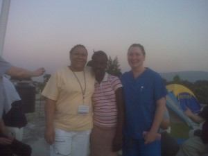 Mirta, Karen and Belinda new friends in Haiti.